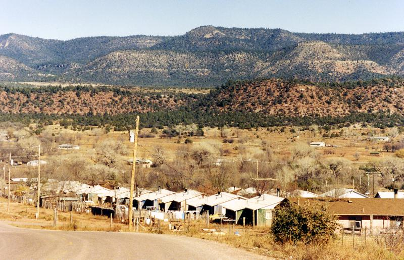 Cibuque Fort Apache reservation settlement, Arizona
