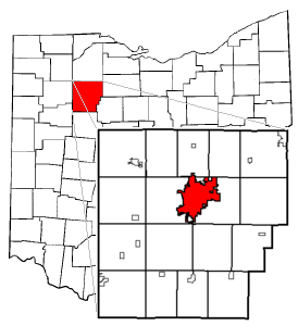 Findlay relative to Hancock County and Ohio