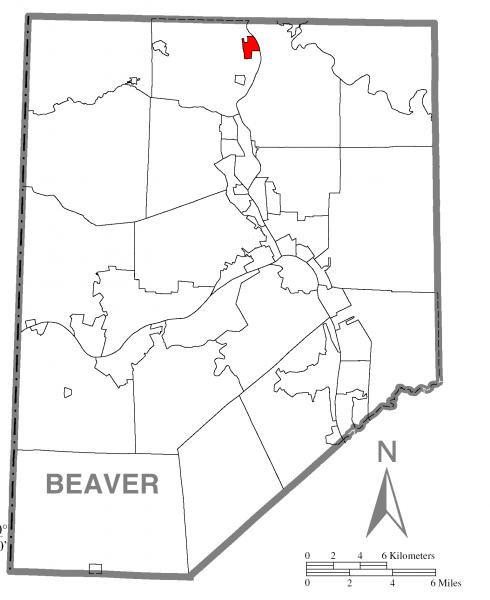 Map of Koppel, Beaver County, Pennsylvania Highlighted