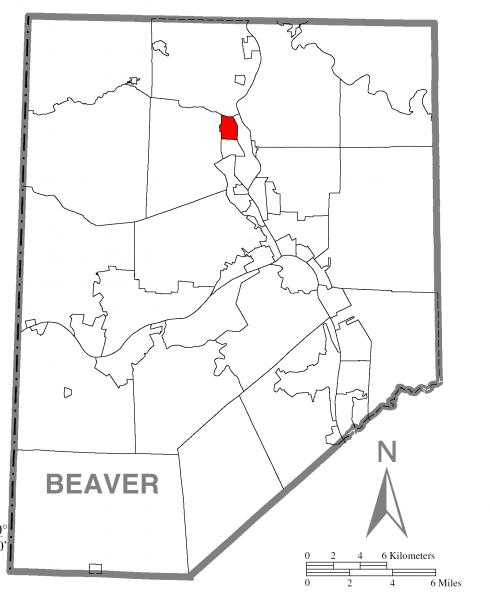 Map of West Mayfield, Beaver County, Pennsylvania Highlighted