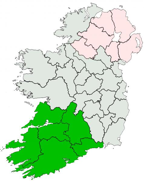 Ireland location Munster