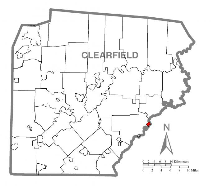 Map of Chester Hill, Clearfield County, Pennsylvania Highlighted