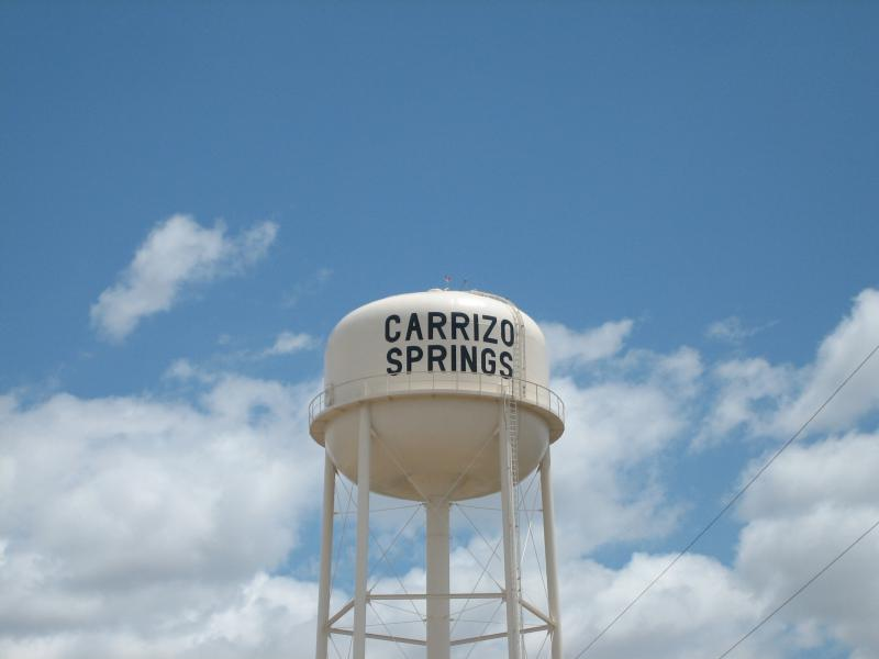 Revised Carrizo Springs, T X, Water Tower I M G 0447